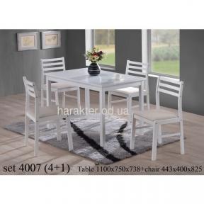 Столовый комплект (стол + 4 стула) 4007 (сток)