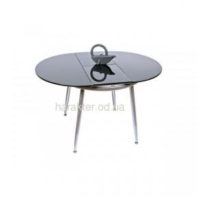 стол стеклянный С-1011, раскладной чёрный или белый