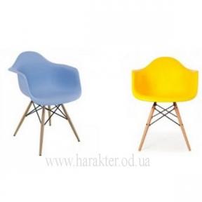 Кресло, стул Тауэр вуд (Леон) голубой, жёлтый