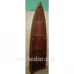 Лодка полка. Полка в виде лодки коричневая деревянная (1м, 1,5 м, 2 м)