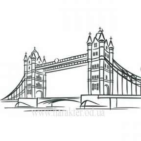 Декоративная Наклейка на Стену London Bridge