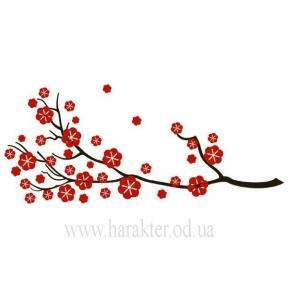 Декоративная Виниловая Наклейка Sakura, ветка Сакуры