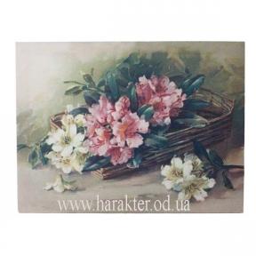 Пано Цветы корзина (холст) 35*45см 105879