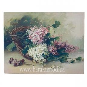 Пано Цветы корзина (холст) 35*45см 105880