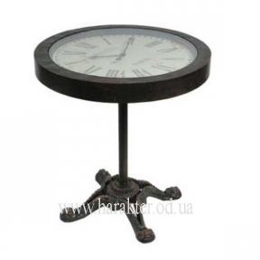 Стол-часы металлический в стиле Винтаж