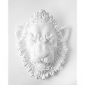 скульптура Голова Льва белый