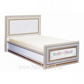 Кровать односпальная с росписью Принцесса 0,8*1,9  0,9*1,9