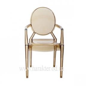 стул Каспер прозрачный янтарь КД