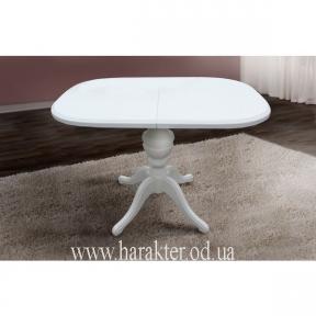 Стіл обідній розкладний Тріумф білий, стол раскладной Триумф белый (авангард)
