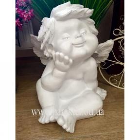 декоративная фигурка Ангел большая, Ангел Сидить рука біля щічки