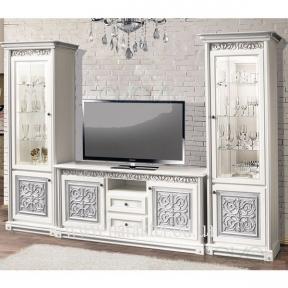 мебель для гостиной Наборная система Тоскана белая-серебро