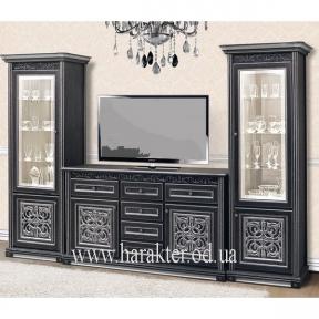 мебель для гостиной Наборная система Тоскана Черная-Серебро