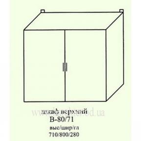 шкаф кухонный навесной с глухими дверями В-80/71