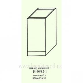 Шкаф кухонный напольный 400