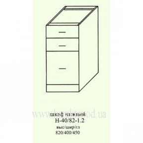 шкаф кухонный, секция нижняя с ящиками