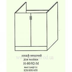 Шкаф кухонный напольный 800 под мойку