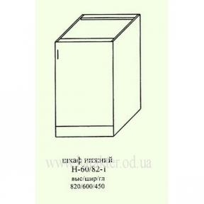 шкаф кухонный, секция нижняя с одной дверью 600