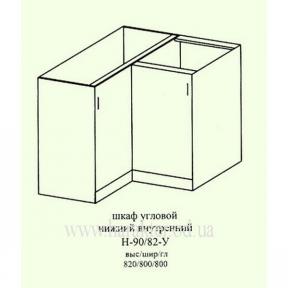 Шкаф кухонный напольный угловой 900