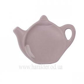 Блюдце для чайного пакетика бежевый или серый 11.5*9см