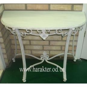 Столик кованый Вензель, консоль, приставной стол
