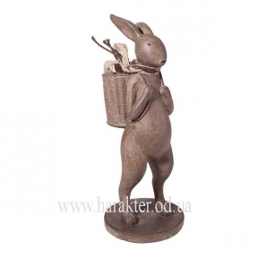 Фигурка заяц с корзиной