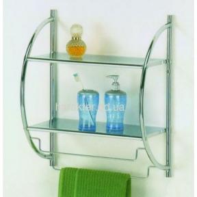 Настенная полка металлическая для ванной BS-1009