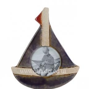 Фоторамка керамика Парусник