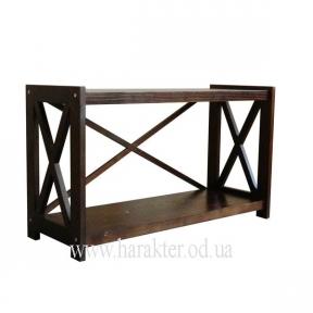 Подставка для ТВ в стиле кантри, этажерка деревянная Е-22
