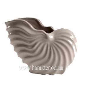 Декор глянцевый , ваза ракушка в морском стиле