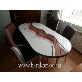 комплект Овал стол раскладной и 4шт стульев