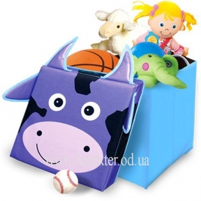 Детский пуф Зоопарк, место для хранения игрушек