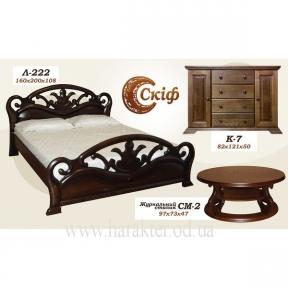 Кровать двуспальная Л-222 160*200