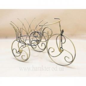 Велосипед кованый мини Корона подставка для цветов