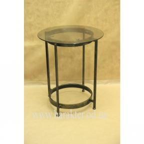 Стол обеденный стекло кованый 07