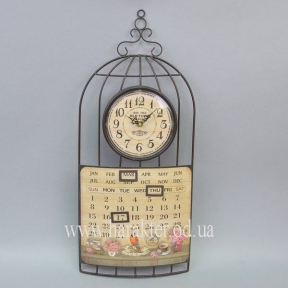 Часы клетка, вечный календарь HT033