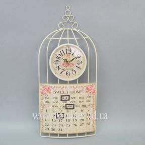 Часы клетка, вечный календарь HT032
