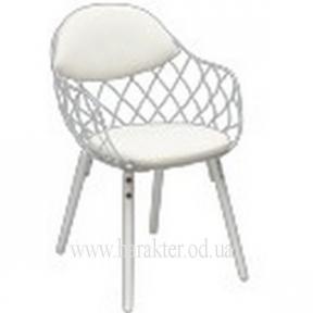 Кресло Вики (цвет белый, черный) КД