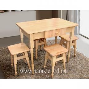 Комплект кухонный Смарт  стол +4 табурета ММ