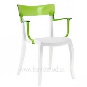 Кресла Hera-K белые с цветной прозрачной спинкой