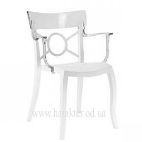 Кресло Opera-K чёрное, серое, белое с цветными прозрачными спинками