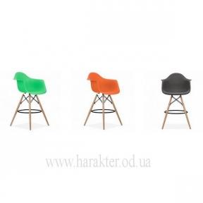 Стул барный (кресло барное) Тауэр Вуд (Eames bar) ножки деревянные (красный, голубой, зеленый, оранжевый)