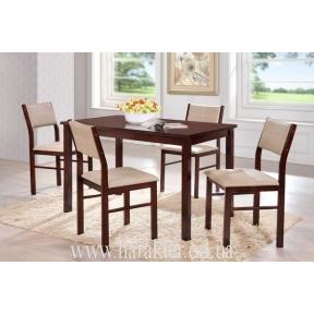 комплект стол и стулья Лорри стулья кожзам бежевый КД