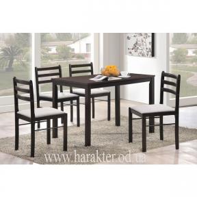 комплект стол и 4 шт. стульев Фиеста венге КД
