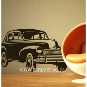 Виниловый Стикер Car, интереьерная наклейка