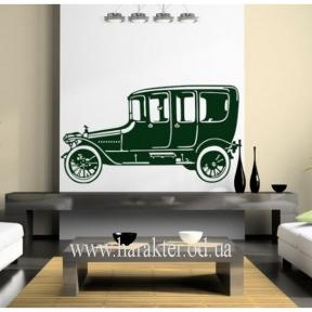 Виниловый Стикер Retro Car, интерьерная наклейка на стену