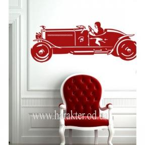 Виниловый Стикер Sport Car, интерьераня наклейка на стену
