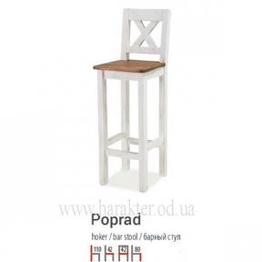 Барний стілець, барный стул из дерева в стиле Кантри, Прованс Poprad