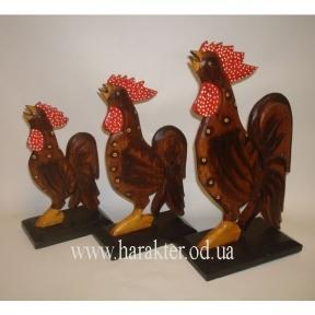 Петухи из дерева, фигурка декоративная Петух