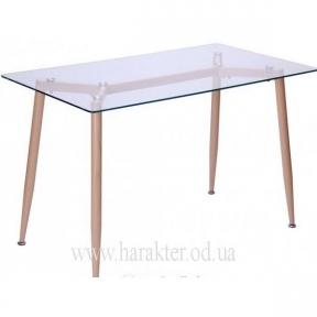 Стол обеденный Tilia Каркас орех/стекло прозрачное