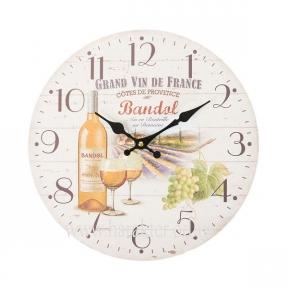 Часы настенные МДФ Grand Vin Bandol 34cm
